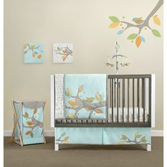 LOVING the tree deco! MiGi - Little Tree Collection 3-Piece Crib Bedding Set
