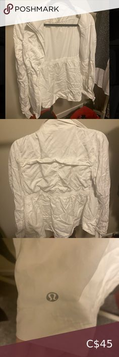 Lululemon Jacket In amazing condition, barely ever worn! White jacket fits like a size 6. No stains. lululemon athletica Jackets & Coats Lululemon Jacket, Lululemon Athletica, Bed Pillows, Stains, Coats, Best Deals, Amazing, Fitness, Jackets