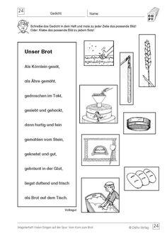 Ernst Klett Verlag Infoblatt Vom Korn zum Brot