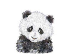 Watercolor panda print baby panda painting panda wall art watercolour panda illustration panda gift Panda Nursery, Safari Nursery, Nursery Prints, Girl Nursery, Safari Animals, Forest Animals, Cute Animals, African Babies, African Animals