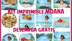 Decoración de Moana: Kit imprimible para descargar gratis