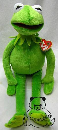 Kermit The Frog Muppet Show Ty Beanie Buddy Stuffed Animal Plush Toy Doll  BNWT Beanie Buddies 52d1824bad5