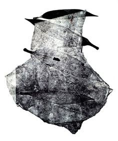 A sampling of largely untitled monotypes by Istanbul-based artist, Bircan Ak.