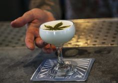 Beverage director Maxwell Reis serves a drink containing Cannabidiol CBD extract with a marijuana leaf motif at the Gracias Madre restaurant in West Hollywood, Calif. Cbd Extract, Beer Company, Tea Brands, Health Trends, Yogurt Recipes, Beverages, Drinks, Hemp Seeds, Thanks