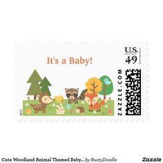 Cute Woodland Animal Themed Baby Shower