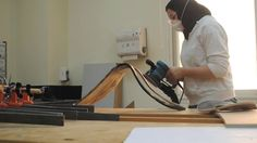 Sanding - by Malia Bennett Henry - The Moving Postcards Project #VCUQatar #Doha