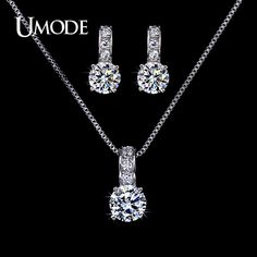 Like and Share if you want this  UMODE Bijoux Femme Top Grade AAA CZ  1 pair Stud Earrings & 1pcs Pendant Necklace Set For Women Jewelry Sets AUS0020     Tag a friend who would love this!     FREE Shipping Worldwide     Get it here ---> http://jewelry-steals.com/products/umode-bijoux-femme-top-grade-aaa-cz-1-pair-stud-earrings-1pcs-pendant-necklace-set-for-women-jewelry-sets-aus0020/    #new_earrings