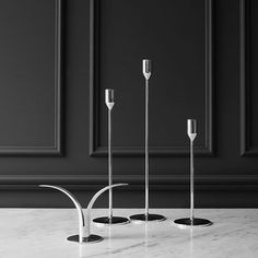 Richard Hutten has designed the elegant candlestick series called Nattlight which comes in three heights. By Swedish @skultuna1607