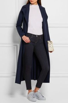 L'Agence - The Chantal Low-rise Skinny Jeans - Dark denim - 29