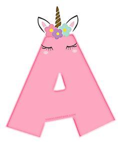 Alfabeto de Unicornios Letras para Descargar Gratis | Todo Candy Bar