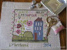 Little Blue House de Ewe Eye & Friends Punto de cruz cross stitch