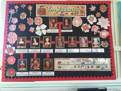 Tudor classroom display ks2 - I like the family tree with portraits and slowing building it over the topic