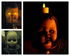 Gaston's Ghoulish Goodies: Doll Heads as part of my Halloween Decor