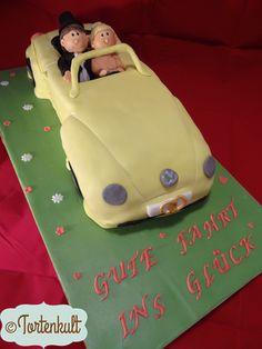 VW Beetle Torte als Hochzeitstorte Beetle Weddingcake