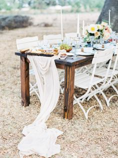 Farm table: http://www.stylemepretty.com/2015/07/10/rustic-elegant-farm-wedding-inspiration/ | Photography: Sally Pinera - http://sallypinera.com/