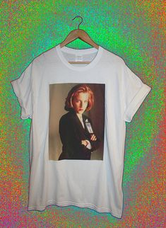 Scully x-files t-shirt retro 90s vintage vtg gillian anderson mulder aliens fbi