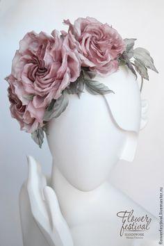"""Цветы ручной работы. Ярмарка Мастеров - ручная работа Ободок для волос """"Dusty Rose"""". Резерв. Handmade."""
