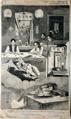 NEW YORK CITY OPIUM DEN Baxter Street Club House, New York, Winslow Homer, 1874