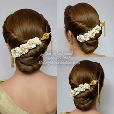 58 Simple Wedding Hairstyles That Prove Less Is Indian Wedding Hairstyles, Bride Hairstyles, Hairstyles Haircuts, Bridal Hairdo, Hair Dos, Hair Makeup, Hair Beauty, Long Hair Styles, Wedding Readings