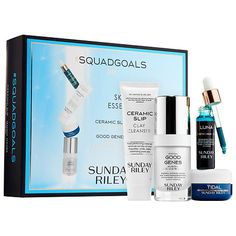 Shop Sunday Riley's #Squadgoals Skincare Essentials Kit at Sephora. This holiday set includes four of  Sunday Riley's top bestsellers.