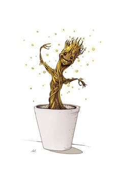 Baby Groot from Guardians of the Galaxy Limited Print Fan Art