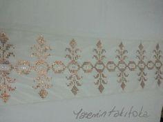 Bakır tel kırma namaz baş örtüsü Rose Gold, Vintage Embroidery, Blackwork, Needlepoint, Knitting Patterns, Cross Stitch, Quilts, Instagram Posts, Handmade