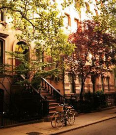 Greenwich Village, New York, USA. Love stoops!