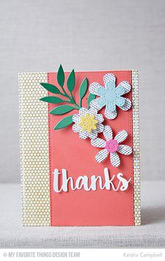 Sensational Stitched Flowers Card Kit - Keisha Campbell  #mftstamps