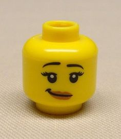 Part : Lego Minifig, Head Female with Peach Lips, Open Mouth Smile, Black Eyebrows Pattern - Blocked Open Stud [Minifig, Head] - BrickLink Reference Catalog Lego Faces, Blue Mascara, Crooked Smile, Black Eyebrows, Lego News, Pink Lips, Red Lips, Peach Lipstick, Custom Decals