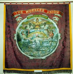 Walter Crane, Banner for The Worker's Union - Holloway branch - Solidarity of Labour, c1898 Liverpool-born Crane, a friend of William Morris...