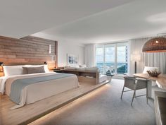 1 Hotel South Beach Miami is designed for comfort using reclaimed materials and is one-of-a-kind, naturally. Discover, taste and gather at 1 Hotel South Beach. Hotel Room Design, Hotels Design, Dream Beach Houses, Hotel Interiors, Bedroom Hotel, Home, Interior, Bedroom Design, Room