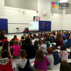 """On Friday Autism Canada visited St. Anne School in Cambridge to talk about #autism awareness and acceptance. There is always a Q&A period following each presentation to encourage interaction and continue the dialogue. A young student on the spectrum came up to Chantale and said """"Thank you for helping me learn more about myself and why I do the things I do."""" He also shared that he wants to be a video game coder when he gets older. We cherish these opportunities to get out into the community. St Anne, Fundraising Events, Autism Awareness, Acceptance, Getting Old, Cambridge, Spectrum, Video Game, Period"""