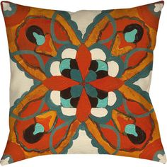 Patioor Guest bedroom:   Add a pop of pattern to your patio sofa or reading nook arm chair with this delightful pillow, showcasing an eye-catching kaleidoscopic motif.