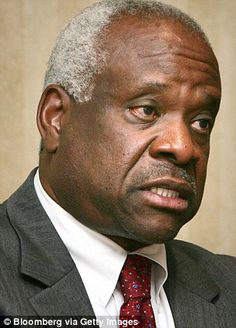 Is Justice Clarence Thomas (pictured) mulling retirement? A report from the Washington Examiner said so - though his wife Ginni Thomas pushed back on the story in a strongly-worded Facebook post