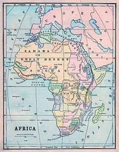 Thursday is Request Day - Map of Africa, Steampunk Globe, Botanical, Horse - The Graphics Fairy
