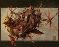 "Dark Roasted Blend: Airships and Tentacles | ""Imperial Airship"" by James Ng"