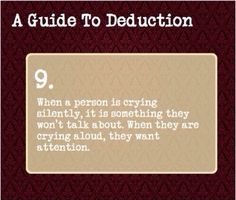 A Guide To Deduction #9