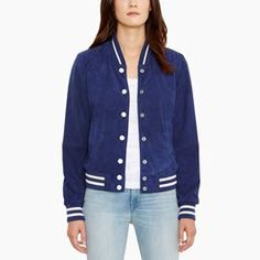 SUEDE BASEBALL JACKET Monoblue   This is such a cute jacket and so soft and comfortable but no £325 soft and comfortable! I'll wait until the sale I think.