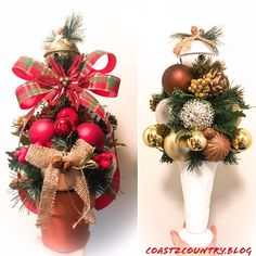 DIY Christmas Trees for every space & style 🎄 Christmas Cactus, Diy Christmas Tree, Christmas Tree Decorations, Christmas Wreaths, Holiday Decor, Cone Trees, Ball Ornaments, Autumn Trees, Tree Toppers