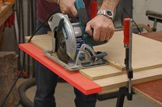 Using a circular saw guide