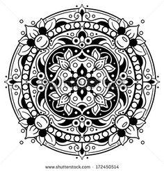 Round Oriental Pattern - stock vector