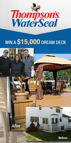 Enter To Win A $15,000 Dream Deck! TERRIFIC GIVEAWAY!! Enter here http://womanfreebies.com/sweepstakes/win-a-15000-dream-deck For Your Chance! You Know I Sure Did Enter! I WANT TO WIN THIS GIVEAWAY SO VERY BAD!! MY DECK NEEDS TO BE FIXED SO BAD!!! Thanks, Michele