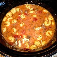 Crock Pot Sausage & Cheese Tortellini