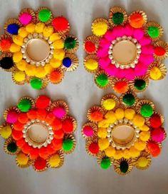Diwali Candle Holders, Diwali Candles, Tealight Candle Holders, Diwali Decoration Items, Diya Decoration Ideas, Tea Party Decorations, Ganesh Chaturthi Decoration, Diwali Gifts, Diwali Diy
