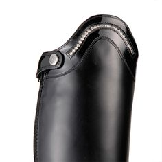 Konig riding boots with patent trim and Swarovski