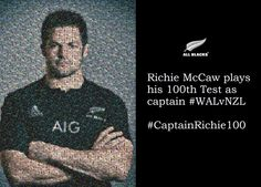 Richie McCaw. 100 matches as captain of the All Blacks. No other like him.