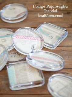 Collage Paperweights Wedding Favors