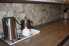 Quick Install of Concrete Countertops! Kitchen Remodel! LOVE the colors of the concrete counter & the tile backsplash