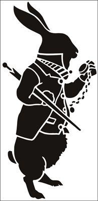 White Rabbit 1 stencil from The Stencil Library CHILDREN range. Buy stencils online. Stencil code 122.