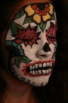 Sugar skull makeup (for halloween/DoTD)--hawt!